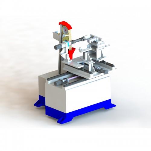 數控圓棒自動砂磨機